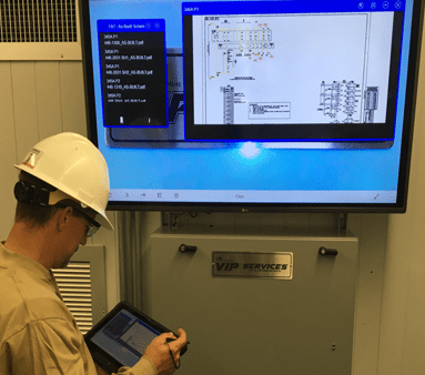 Engineer using VIP Services to access drawings