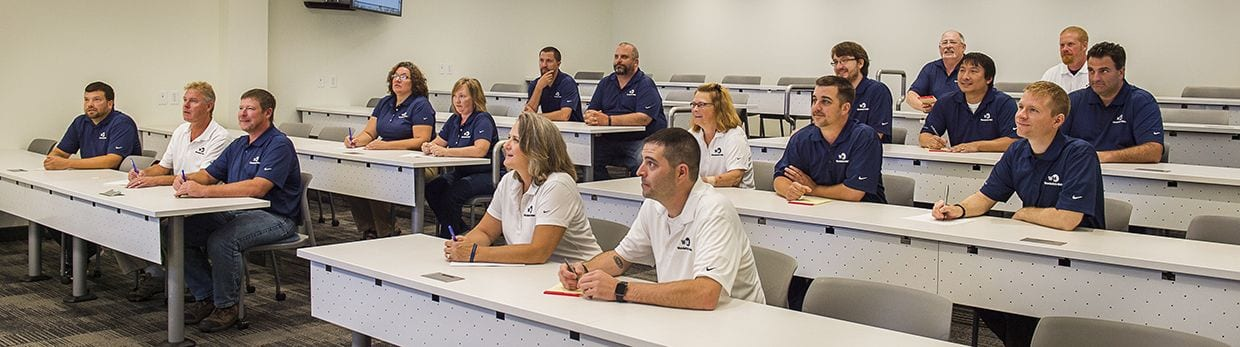 Wunderlich-Malec employees during a training session